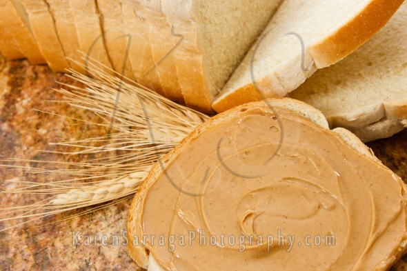 Creamy Peanut Butter on Bread | Stock Photo