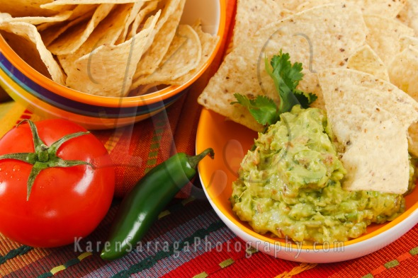 Fresh Guacamole With Tortilla Chips | Stock Photo