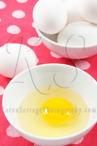 Fresh Eggs on a Colorful Pink Background | Stock Photo