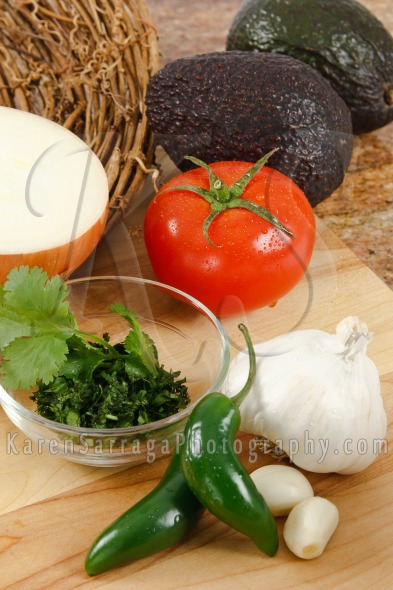 Ingredients For Fresh Guacamole | Stock Photo