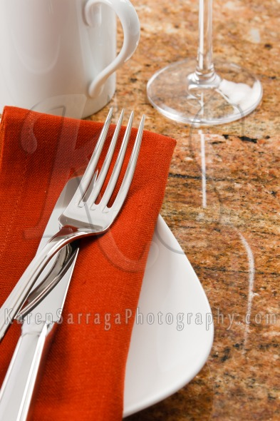 Bistro Cafe Table Setting | Stock Photo