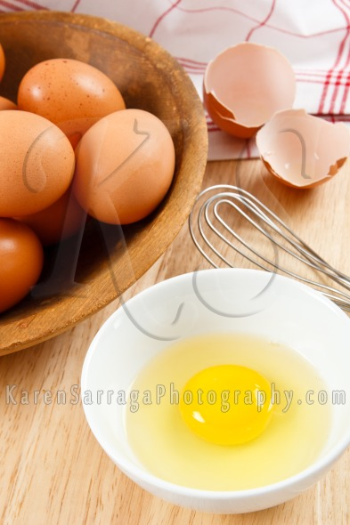 Preparing Eggs For Breakfast | Stock Photo