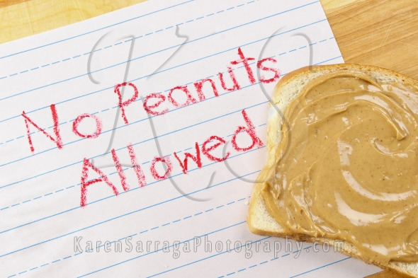 Warning – No Peanuts Allowed | Stock Photo
