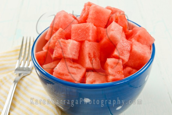 Red Watermelon In A Bowl | Stock Photo