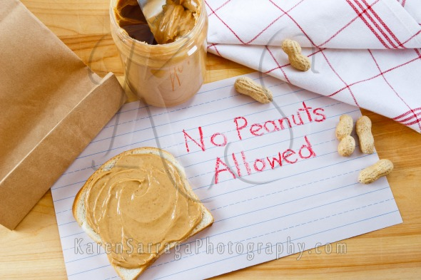 Peanut Allergy Warning Sign | Stock Photo