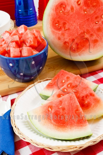 Sliced Juicy Watermelon | Stock Photo