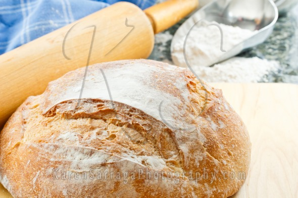 Fresh Baked Crusty Bread | Stock Photo