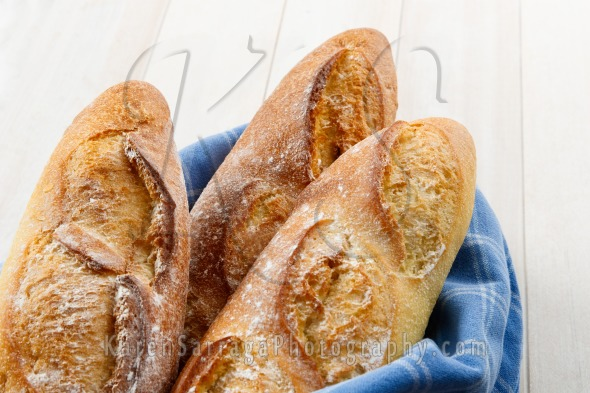 Crusty Artisan French Baguettes | Stock Photo