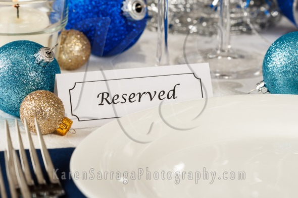 Holiday Table Setting With Plate | Stock Photo