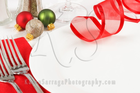 Elegant Christmas Table Setting | Stock Photo