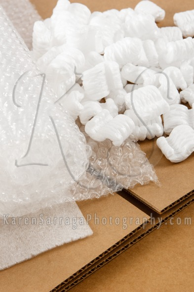 Packaging Materials And Boxes For Shipping | Stock Photo