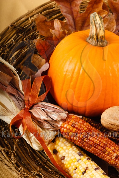 Colorful Autumn Decorations With Pumpkin | Stock Photo