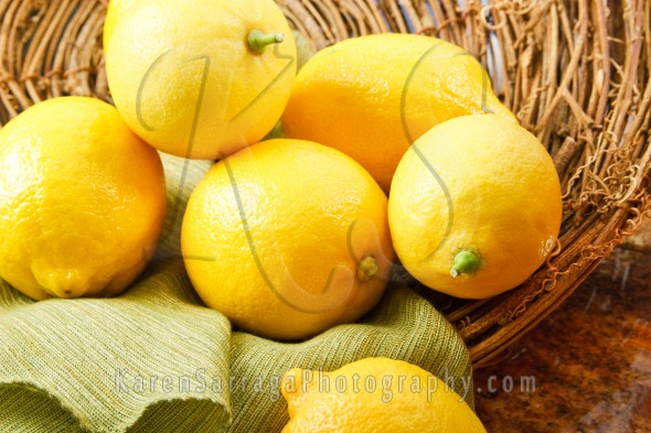Basket Of Yellow Lemons | Stock Photo